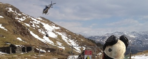 Pipe air-lifted to Hydro scheme