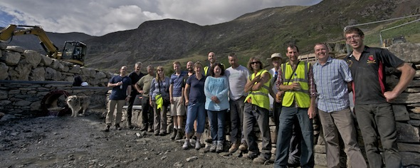 Topping out at Snowdon Hydro Intake